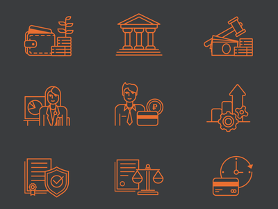 Icons for Bank