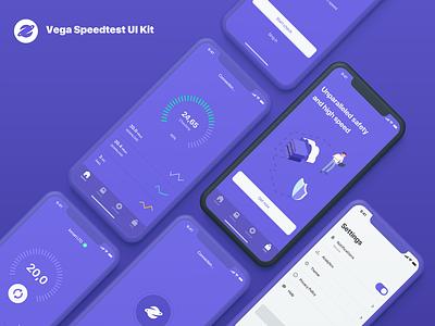 Vega Speedtest UI Kit ios vega