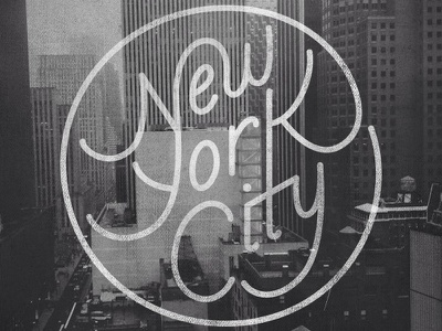 NYC lettering typography type sketch vector new york nyc texture
