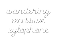 All the troublesome cursive characters…