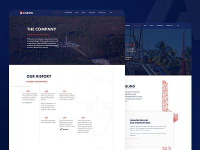 Caroil Website Design industrial logo design website website design branding