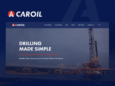 Caroil Web Branding industrial logo design website website design branding