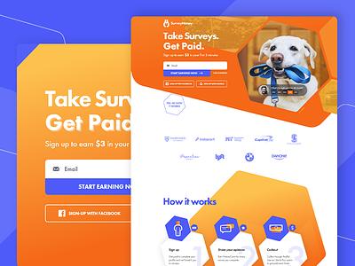 SurveyHoney web design and development website development website design website logo design branding