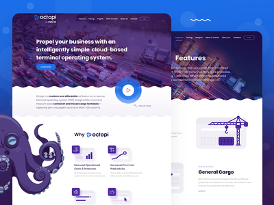 Octopi by Navis web design and development website development website design website logo design branding