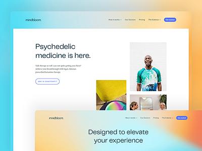 Mindbloom website development ux ui logo colorful webflow website development website design website design branding