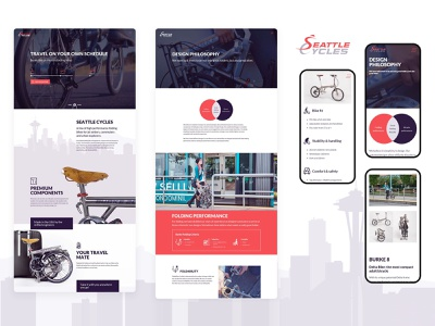 """Website Design and Development for """"Seattle Cycles"""" illustration website development design logo branding website design website"""