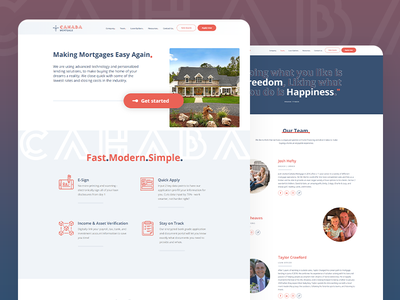 Webdesign and Development for Cahaba Mortgage ux ui webflow website development design website design website