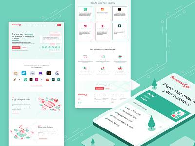 Web design and Developmt for RevenueCat illustration ux webflow website development logo design website design website