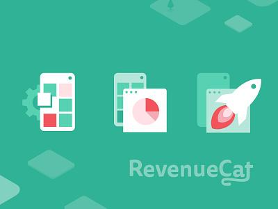 Web design and development for RevenueCat development illustration colorful design branding webflow website development logo website design website