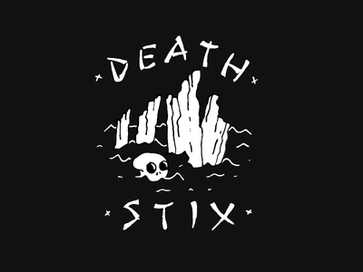 Death Stix tattoo flash flash sheet tattoo rockabilly punk surfing skating skate lettering illustration skull surf