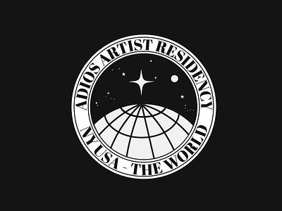 Artist residency logo moon nasa space travel world art logo