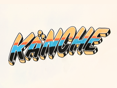 KANCHE customtype type handdrawn lettering