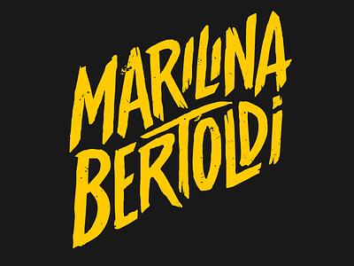 Marilina Bertoldi type handdrawn customtype lettering rock music