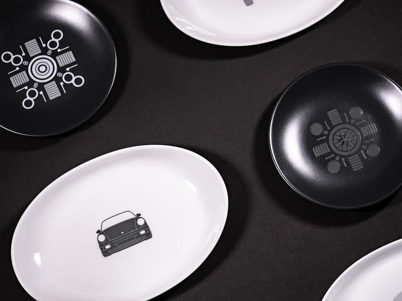 CCC Restaurant Plate Design print plate porsche pattern