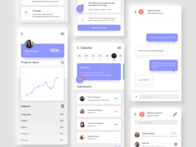 Students app uxdesign creative color chat uidesign ux clean minimal appdesign app design ui