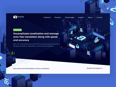 Reverie Web redesign vector logo webdesign web ui-design-inspiration uxdesign uidesign ux app isometry ui