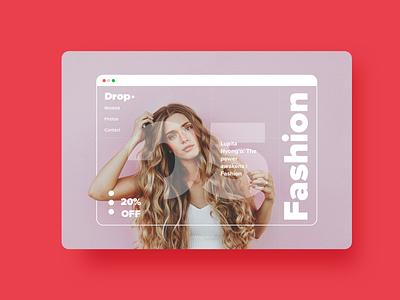 Fashion online shop.❤️ webdesign web uxdesign ux ui-design-inspiration uidesign ui landingpage drop design appdesign app
