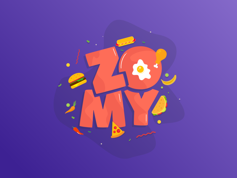 Zomy branding appdesign uidesign typography icon illustration logo drop ui-design-inspiration app ui design