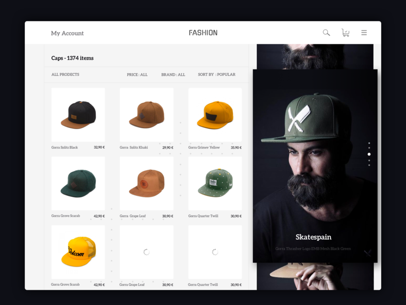 Caps   Ecommerce Website Design. uxdesign follow character dribbble webdesign uidesign typography illustration web appdesign app ux ui ui-design-inspiration design
