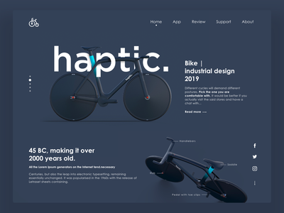 Minimal Landing Page For Cycle Store. likes dribbble color futuristic cycle futuristic 2019 trends cycle logo webdesign web design uidesign ux ui-design-inspiration ui