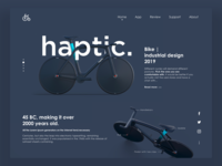 Minimal Landing Page For Cycle Store.