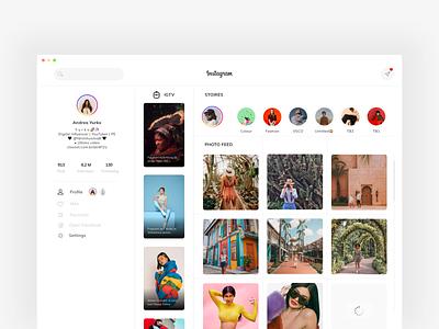 Instagram 2020. fashion clean flat gradient theme post uidesign appdesign design webdesign web app ux ui social media stories minimal new update instagram
