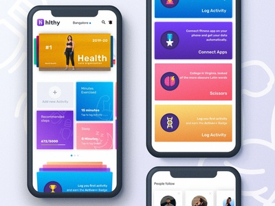 Healthy App concept. consultation ios slider mobile progress overview minimal clean uidesign uxdesign appdesign design ux color ui concept health app
