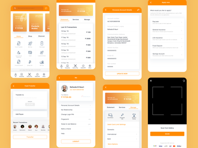 ICICI Bank App Redesign. money transfer banking app bank uxdesign clean colors minimal ui-design-inspiration uidesign app ux ui
