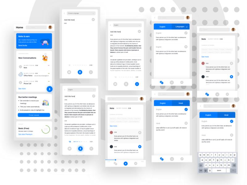 Otter app UI redesign.✏️ illustration clean minimal uxdesign uidesign appdesign ux app design ui