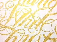 Christmas Lettering Detail