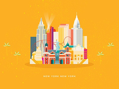 Sunrise Hospital Map geometric orange color vector illustration new york