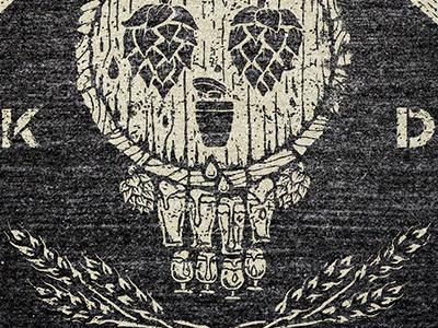 Keg Day T-shirt Concept texture lettering wheat design beer tshirt illustration advertising skull dmh