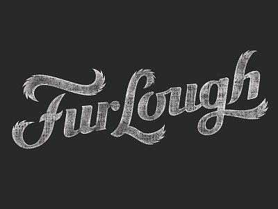Furlough Logo distressed military black vintage script dog pets illustration stamp typography lettering furlough