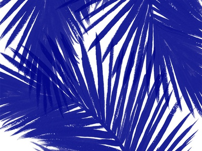Tropic Vibes society6 pattern illustration sea beach ocean tropical blue painting palms leaves