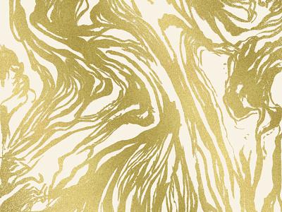 Marbled Gold design ink girly feminine luxury metallic marble painting pattern gold