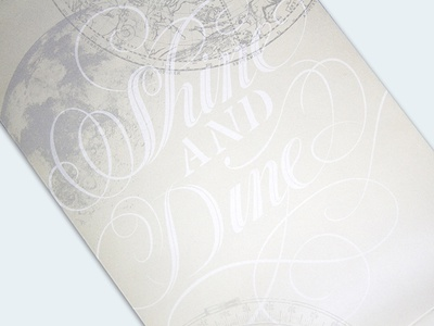 Shine & Dine chic elegant metallic print calligraphy invitation lettering typography