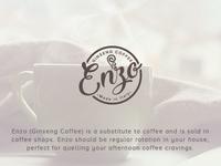 Logo Design - Enzo Ginseng Coffee