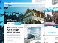Cottage rentals website design