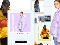 Weekly discount email made for fashion brand