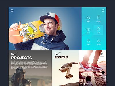 SixSteps Homepage Design skateboard shop design studio graphic design six steps