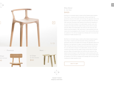 L'Boulevard - Checkout and Single Product page set tv sofa desk store chair furniture ecommerce web ux ui design
