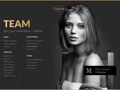 Agency Theme - Free PSD free psd theme template agency design black gold