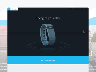 Fitbit Product Showcase - Redesign fitbit product showcase redesign