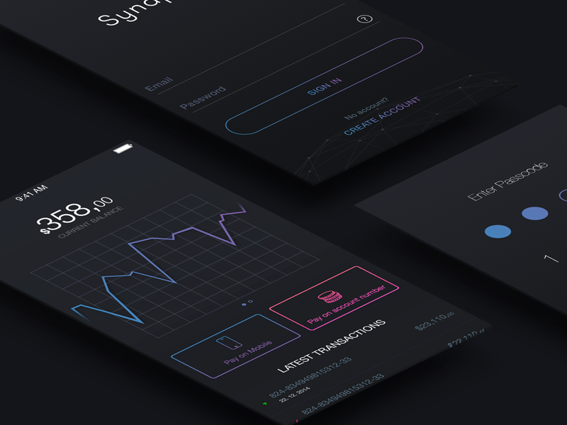 Synapses Bank - UI KIT ui kit psd