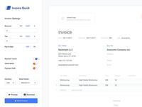 Sidebar + Invoice