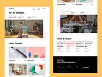 Swiss Design Homepage homepage portfolio studio art design swiss