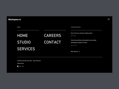 Full screen navigation website navigation full screen mobile agency typography