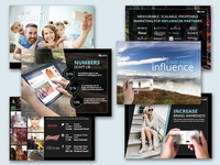 Pitch deck design for influencers marketing company