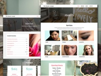 Web Design for Beauty Lounge