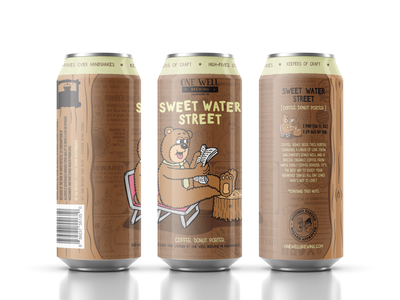 One Well Brewing - Beer Can Label - Sweet Water Street